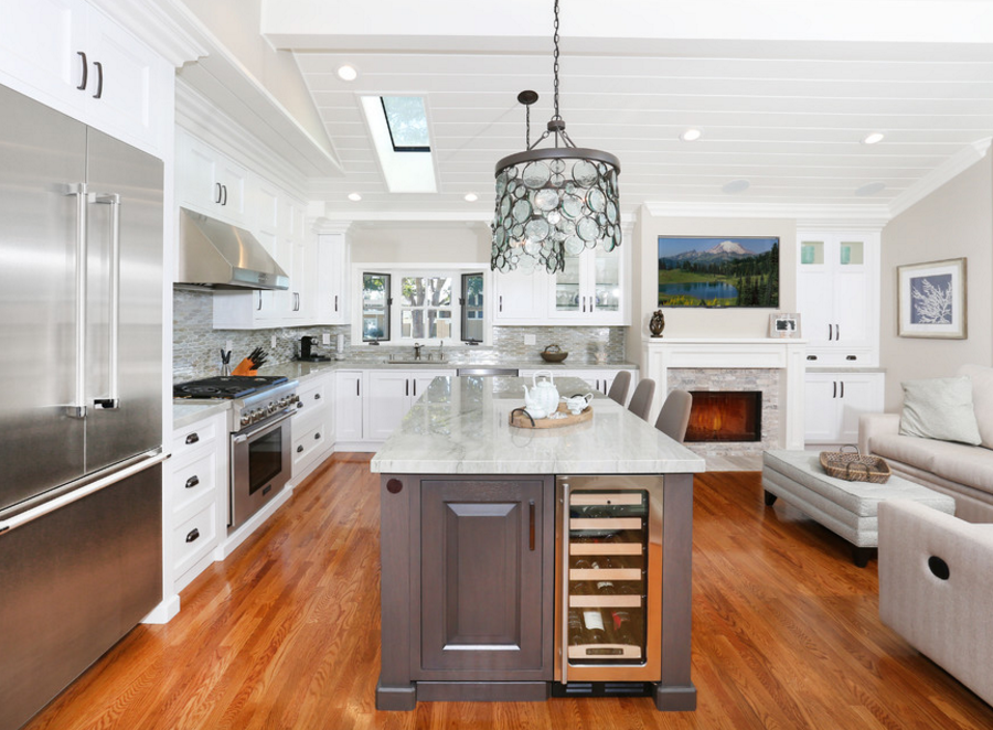 built-in kitchen wine coolers, classic kitchen