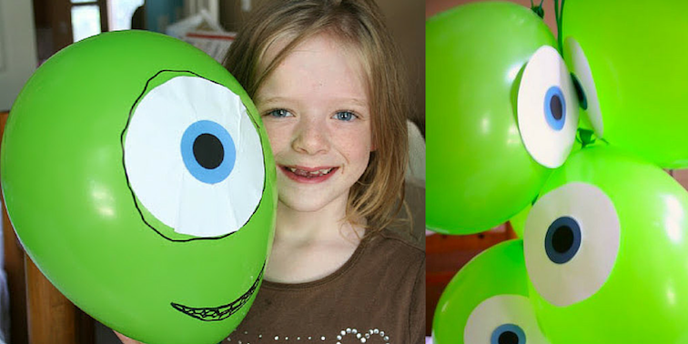 Monsters Inc. Themed Birthday Party - Balloons