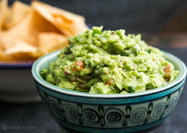 party dips, guacamole