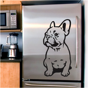 bulldog fridge stencil