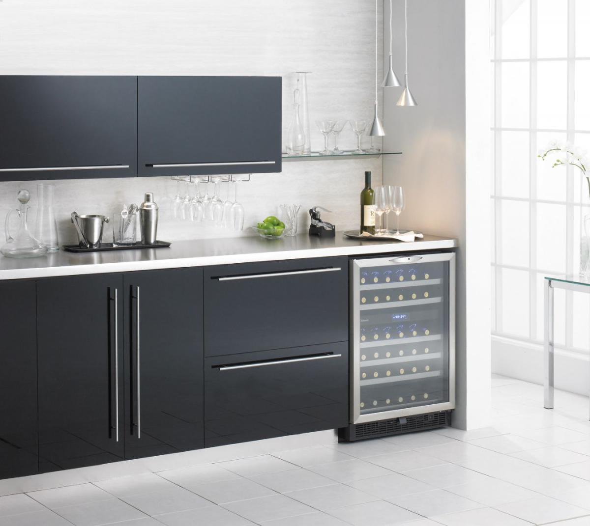 kitchen wine cooler, stainless steel