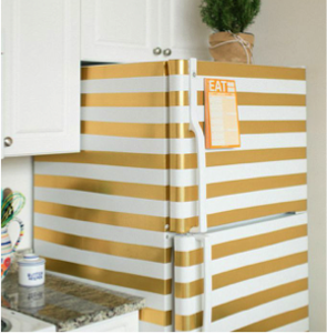 gold fridge stencils
