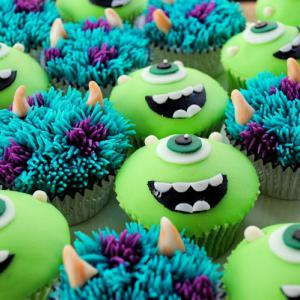 Monsters Inc. Themed Birthday Party - cupcakes