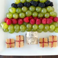 Christmas Platters, grape christmas tree