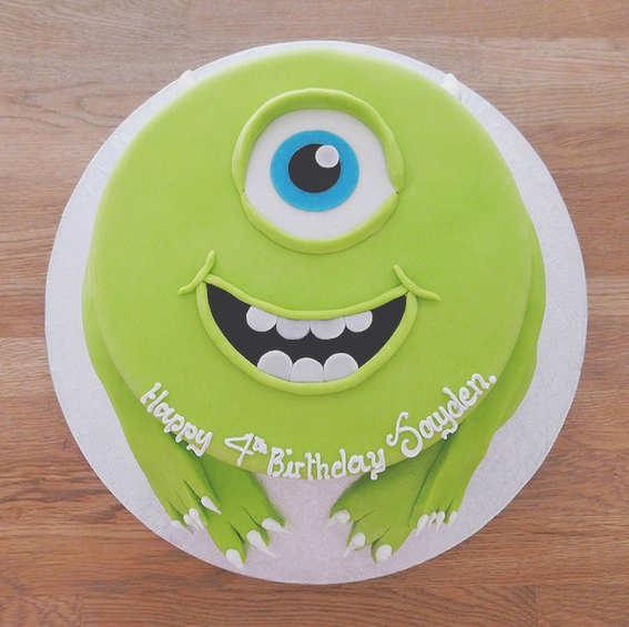 Monsters Inc. Themed Birthday Party - Cake
